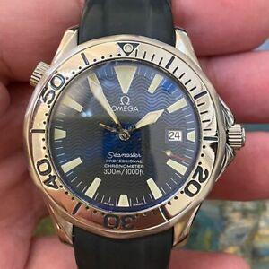 OMEGA SEAMASTER 300M JAMES BOND ELECTRIC BLUE 168.1640 AUTOMATIC GENUINE WATCH