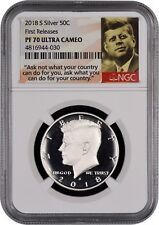 2018 S SILVER Kennedy Half Dollar FIRST RELEASES NGC PF70 Ultra Cameo (PORTRAIT)