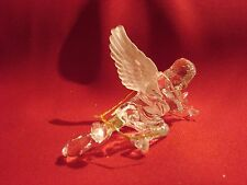X15  ANGEL CHRISTMAS TREE ORNAMENT - CLEAR ANGLE W/ FROSTED WINGS