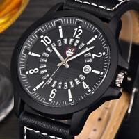 Luxury Men's Stainless Steel Date Military Watch Analog Quartz Sport Wrist Watch