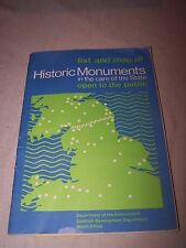List & map of Historic monuments in the care of the state - DOE book