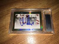 Chris Chelios Jeremy Roenick 2013 Leaf Masterpiece Cut Signature signed 1/1 JSA