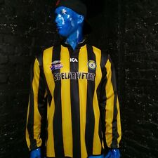 Göteborgs Fotbollförbund Jersey Long Slevve Umbro Shirt Black Yellow Mens Size L