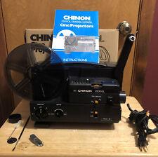 Chinon 2500Gl Dual Super 8 Regular 8mm Cine Projector W/ Box