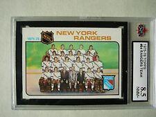 1975/76 TOPPS NHL HOCKEY CARD #94 NEW YORK RANGERS CHECKLIST NM/MT+ KSA 8.5