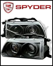 Spyder Honda Civic 90-91/CRX 90-91 Projector Headlights LED Halo Blk
