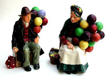 Royal Doulton Figurines The Balloon Man & Woman HN1954, HN1315 Pair