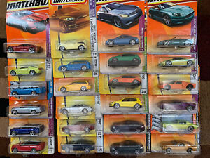 Matchbox Lot of 24 Vehicles-Muscle, Exotic & Import-sealed in Blisterpacks