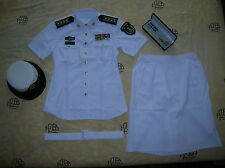 Obsolete 07's China PLA Navy Woman Officer Summer Short-sleeved Uniform,Set,(G)