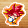 Dragon Super Saiyan God Goku Chibi Die Cut Wall Car Window Decal Sticker