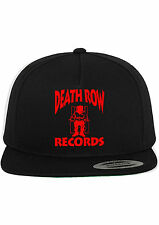 Death Row Records Snapback Hat Adjustable Baseball Cap New - Black w/ Red