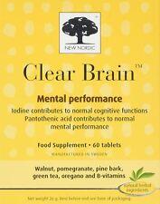 New Nordic claro cerebro 60 comprimidos (paquete de 3)