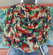 Swiss Army vintage M70 Alpenflage Camo rucksack w/straps, v. g. cond., free ship