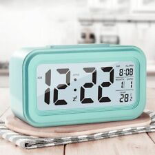 Desk Digital LED Alarm Clocks Thermometer Snooze Watch Electonic Table Calendar