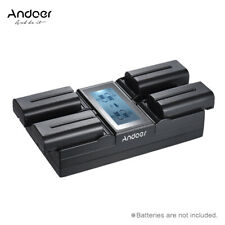 Andoer NP-F970 4-Channel Digital Camera Battery Charger w/ LCD Display  for D7J4