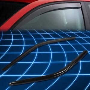 Tint Tape-On Window Visor Sun/Rain Guard Vent Shade For 08-18 Dodge Challenger