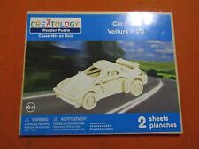 Creatology Wooden Puzzle Brand New Sealed  Car F-20