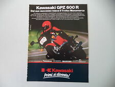advertising Pubblicità 1986 MOTO KAWASAKI GPZ 600 R