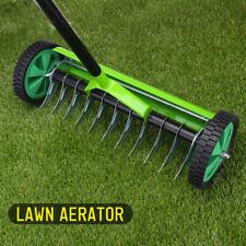 Rolling Lawn Aerator Heavy Duty Grass Cutter Roller Spike Tool Garden Roll 124CM