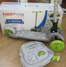 Kiddimoto Fossil U-Zoom 3 wheel light up Scooter + matching Back pack RRP £79.75