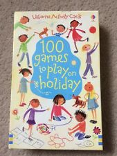 Usbourne Activity Cards 100 Games to play on holiday NEW