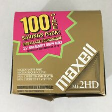 97 Maxell Diskettes MF2HD PC Formatted 1.44 MB 3.5 PC Floppy Disks - New In Box!