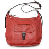 LONGCHAMP Balzane Burgundy Red Hobo Leather Handbag Purse Saddle Zipper  NEW