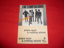 Spartito The Temptations Papa was a Rolling Stone Music 1972