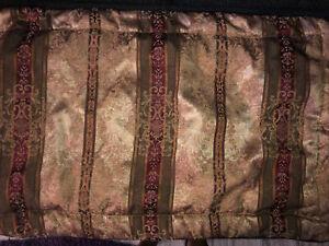 2 Croscill Townhouse King Pillow Shams Burgundy Gold Green
