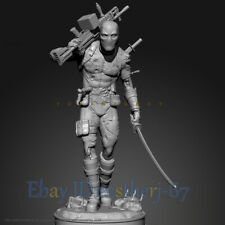 Unpainted 1/24 75MM Deadpool Resin Figure Model Kit Unassembled Garage Kit