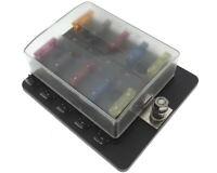 KFZ Sicherungskasten 10-fach mit LED Sicherungshalter Sicherung Halter 12/24/36V