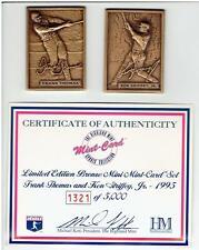 Frank Thomas and Ken Griffey, Jr Highland Mint  2 Card Mini Bronze Set