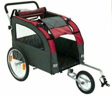 Dog Bike Trailer Pushchair Large Carrier Stroller Jogging Kit Pet Bicycle Ride