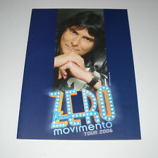 RENATO ZERO TOURBOOK ZERO MOVIMENTO TOUR 2006
