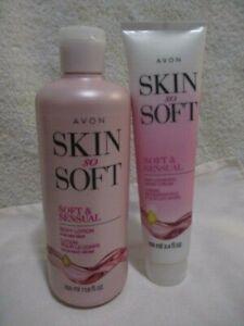 AVON SSS Soft & Sensual w/Argan Oil Body Lotion 11.8 oz & Hand Cream 3.4 oz