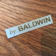 """Bright Gold """"by Baldwin"""" Piano Cabinet Fallboard Decal Letters 2-3/8""""x5/16"""""""