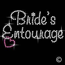 Wedding Brides Entourage Iron On Bling Rhinestone Transfer