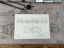 Jaguar E-Type 1960 Konstruktionszeichnung