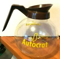 "Vintage Autocrat ""A Swallow Will Tell You"" Wilbur Curtis Glass Coffee Pot"