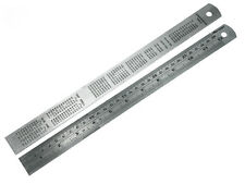PK x 2 Neilson 12 Inch/300mm Steel Rule With Conversion Table On Back