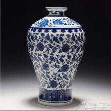 Chinese Blue and White Porcelain Vase Home DecorateVase qianlong marked