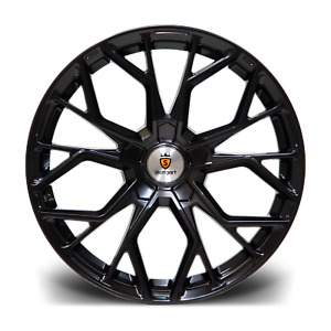 """18"""" Stuttgart SF12 Alloy Wheels Matt Black 5x112 fits Mercedes C Class"""