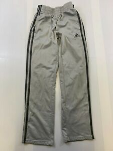 ADIDAS YOUTH SIZE MEDIUM GRAY ELASTIC WAIST TRACK PANTS EUC