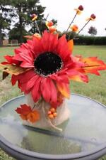 Sunflower Burlap Arrangement Centerpiece Fall Wedding Table Decor New Red