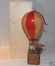 RUSS Bears From the Past Santa Bear in Hot Air Balloon 14882 Christmas Ornament