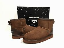 4b6e27a190 UGG STAR WARS LTD CHEWBACCA CLASSIC MINI BOOTS BROWN LEATHER BIG KIDS -US 2