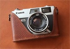 Leather Black with Red Stitch Half Case for Canon QL17 GIII - BRAND NEW