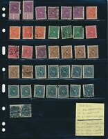 STOCK SHEET OF DEUTSCHES REICH MAIL STAMPS. EARLY 1920Ss. MINT AND USED