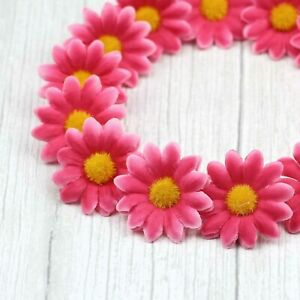 50Pcs Artificial Silk Gerbera Flowers Daisy Sunflower Heads Wedding Pretty Decor