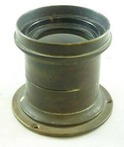 """Vintage 22-24"""" F.L. BRASS Lens w/Mounting Flange"""